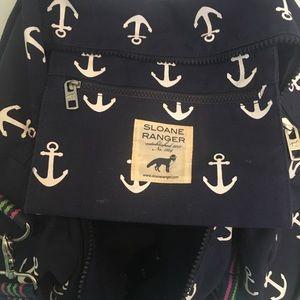 Sloane Ranger Bags - Preppy Anchor Overnight Canvas Duffel Bag